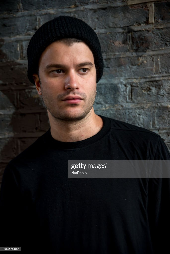 Italian thechno DJ and producer Francesco Orcese, commonly known as Richey V is portraited in Shoreditch, London on August 17, 2017. Richey V is a techno DJ and producer from Milan, Italy, who is promoting his second EP 'Black Siren'.