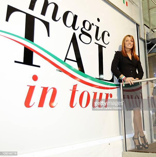 Italian Tourism Minister Michela Vittoria Brambilla attends the 2011 BIT International Tourism Exchange at Fieramilano on February 17, 2011 in Milan,...