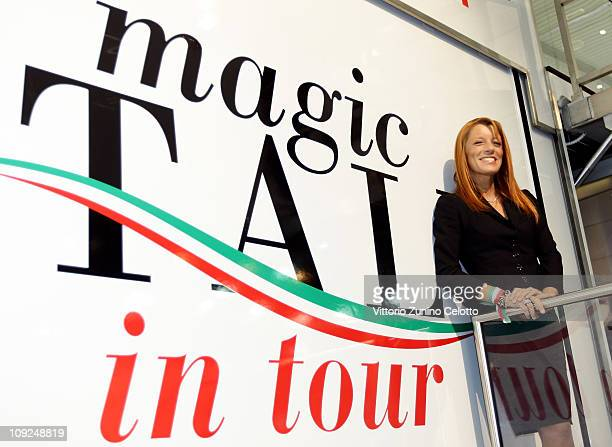 Italian Tourism Minister Michela Vittoria Brambilla attends the 2011 BIT International Tourism Exchange held at Fieramilano on February 17, 2011 in...