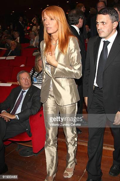 Italian tourism minister Michela Vittoria Brambilla attends the 'Omaggio A Roma' Press Conference during day 2 of the 4th Rome International Film...
