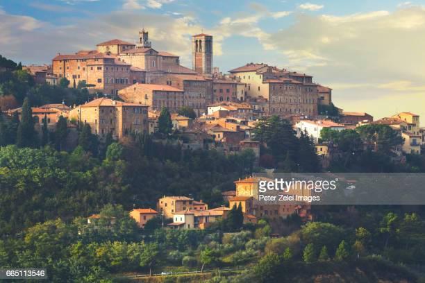 Italian town (Montepulciano) in Tuscany