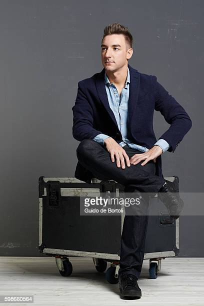 Italian track cyclist Elia Viviani is photographed for Self Assignment on February 21, 2016 in Milan, Italy.