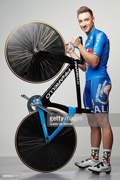 Italian track cyclist Elia Viviani is photographed for Self Assignment on February 21 2016 in Milan Italy