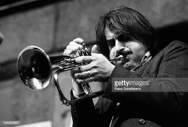 Italian trumpet player Enrico Rava performs on stage at BIM Huis on January 29 1983 in Amsterdam, Netherlands.