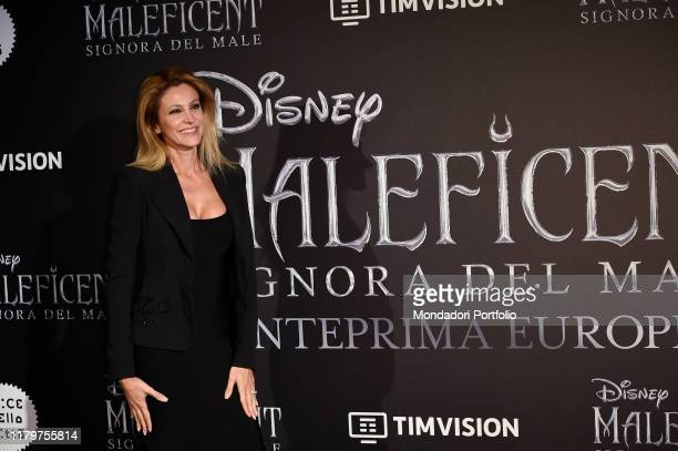 Italian tv host Adriana Volpe during the European premiere of the Disney film Maleficent Lady of Evil at the Auditorium della Conciliazione Rome...