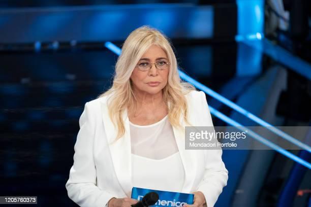 Italian tv host Mara Venier during the episode of Domenica In dedicated to 70th Sanremo Music Festival Sanremo February 9th 2020