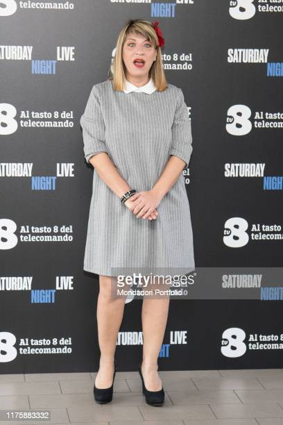 Italian tv host Mary Sarnataro at Saturday Night Live tv show photocall. Milano, April 6th 2018