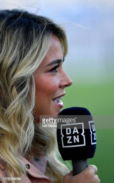 Italian TV Journalist Diletta Leotta , during the Serie A match between SS Lazio and FC Internazionale at Stadio Olimpico on October 4, 2020 in Rome,...