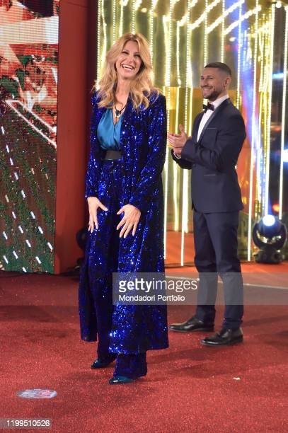 Italian TV presenter Adriana Volpe during the first episode of the transmission Big brother vip 4 at the Cinecittà studios. Rome , January 8th, 2020