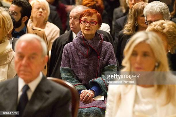 Italian TV presenter and actress Mara Venier Italian politician and journalist Gianni Letta and Italian actress Milena Vukotic attending the wedding...