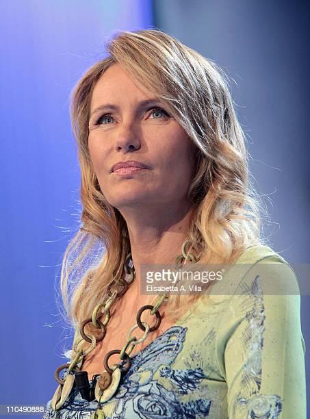 Italian TV presenter Licia Colo attends Alle Falde Del Kilimangiaro TV show at the RAI Studios on March 20 2011 in Rome Italy