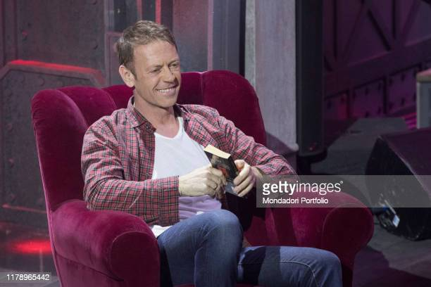 Italian tvhost and actor Rocco Siffredi on stage during the Saturday Night Live show recording Milan April 11th 2018