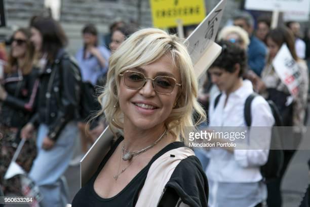 Italian tv-host Paola Barale at Design Pride Parade by Seletti with Paridevitale srl Communication & PR from Castello Sforzesco to Piazza Affari to...