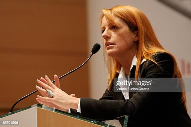 Italian undersecretary of Tourism Michela Vittoria Brambilla attends 'Altagamma scenari 2009' press conference on March 30 2009 in Milan Italy...
