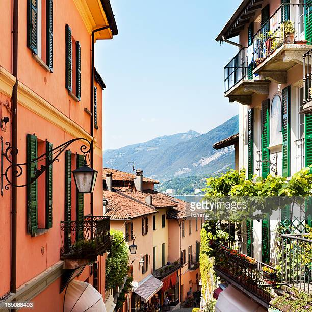 italian village - lake como stock pictures, royalty-free photos & images