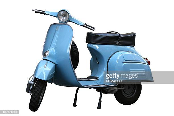 italian vintage scooter in rome, italy - motorbike stock photos and pictures