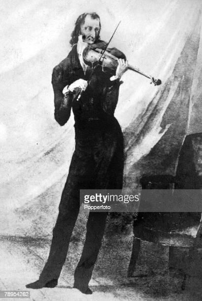 Italian violinist and music composer Niccolo Paganini 1782 1840