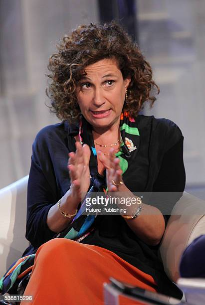 Italian virologist Ilaria Capua at Porta a Porta, an Italian late night television talk show, on June 07, 2016 in Rome, Italy. PHOTOGRAPH BY Marco...