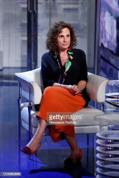 Italian virologist Ilaria Capua guest of the television transmission Porta a Porta. Rome , June 7th, 2016