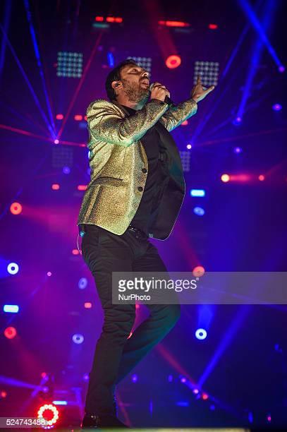 Italian vocalist and composer Cesare Cremonini performed live at the Palalottomatica in Roma Pi�� che logico Tour 2015