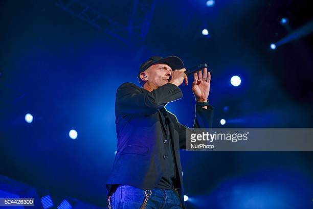 Italian vocalist and composer Max Pezzali performed live at the Palalottomatica in Roma on October 8 2015