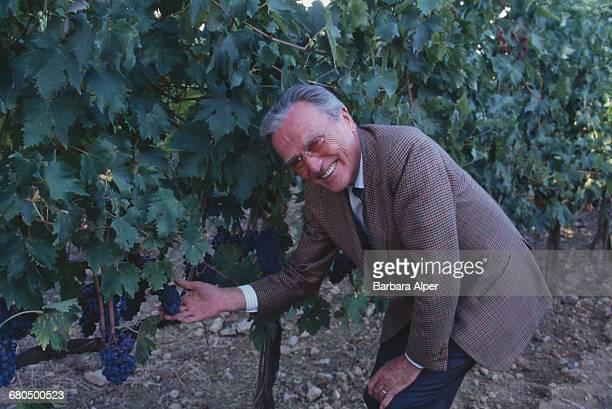 Italian winemaker Franco Biondi Santi at his vineyard in Montalcino, Tuscany, Italy, October 1999.