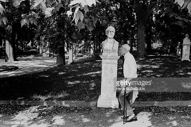 Italian writer Alberto Moravia in Rome Italy in 1984