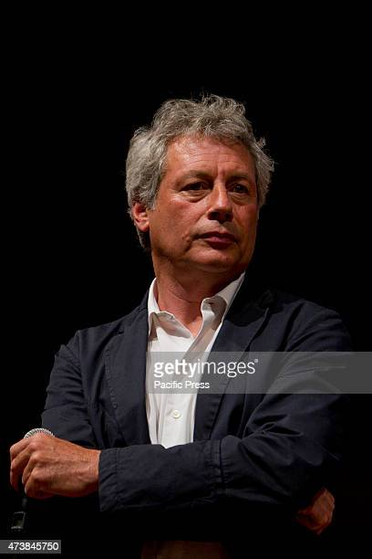 Italian writer Alessandro Baricco during a presentation at 2015 Turin Book Fair The Turin International Book Fair is Italy's largest trade fair for...