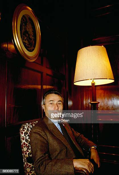 Italian writer and critic Alberto Arbasino in Paris for the rerelease of the 1974 film Les Petites Vacances Little Holidays in English a collection...