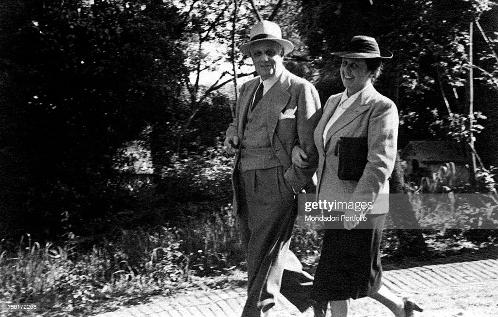 Gustavo Brigante Colonna Angelini with his wife : News Photo