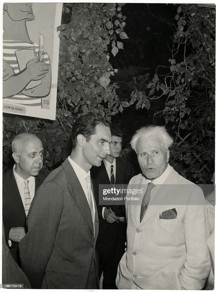 Italo Calvino, Piero Jahier and Paolo Milano attending the Viareggio Literary Pr : News Photo