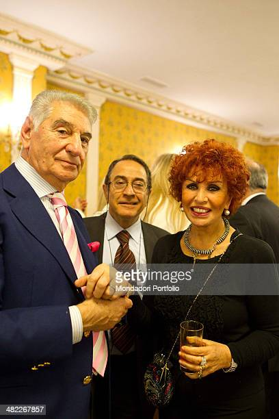 Italian writer and singer Maria Scicolone attending the reception at the hotel Parco dei Principi Italian actor and comedian Lino Banfi and Lucia...