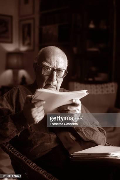 Italian writer Andrea Camilleri Roma 31st May 2000