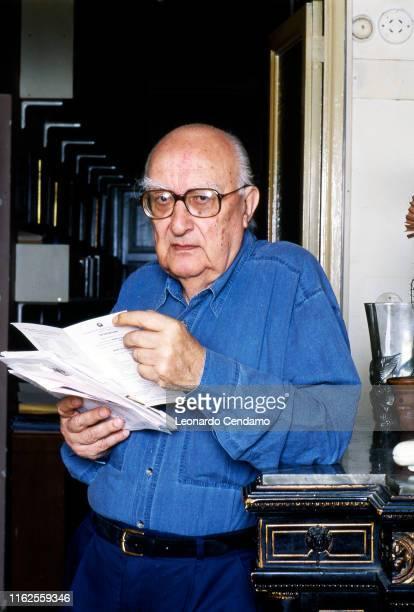 Italian writer Andrea Camilleri Rome Italy May 2000