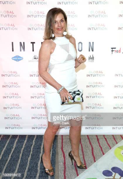 Italian Writer Antonella Boralevi attends the Official Launch Reception For Fashion Brand GLOBAL INTUITION at Fred Segal on July 26 2018 in Los...