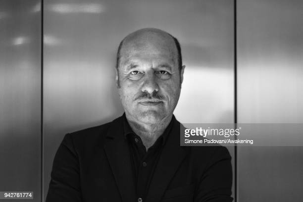 Italian writer Eraldo Affinati attends a photocall during Incroci di Civiltà International Literature Festival at Fondaco dei Tedeschi on April 6...