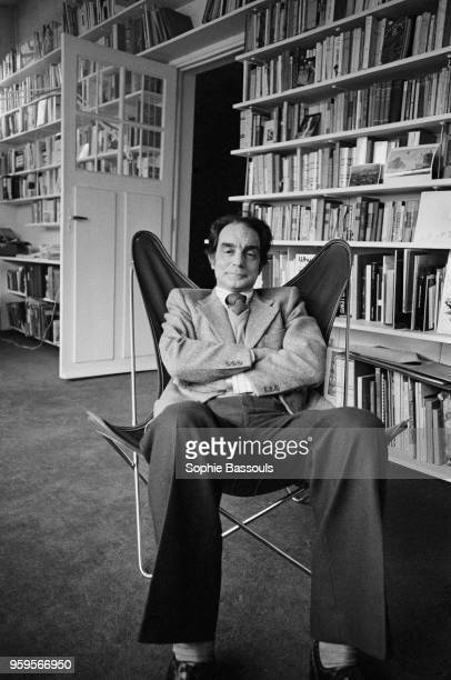Italian writer Italo Calvino at home 5th December 1974