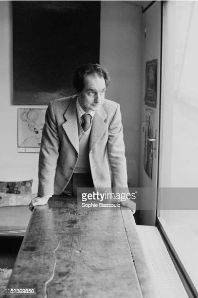 Italian writer Italo Calvino at home in Paris 5th December 1974
