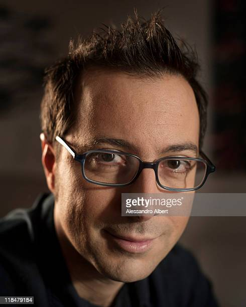 Italian writer Luca Bianchini poses during a portraits session held in his home in Turin on January 25 2011 in Turin Italy