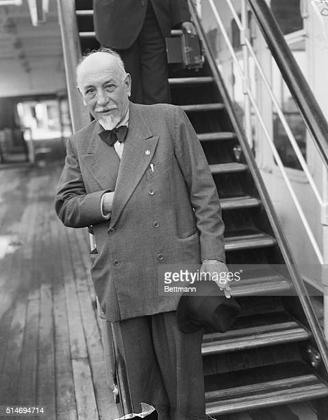 Italian writer Luigi Pirandello arrives into New York on the S.S. Conte Di Savoia on July 20, 1935. Pirandello, who was en route to Hollywood, was...
