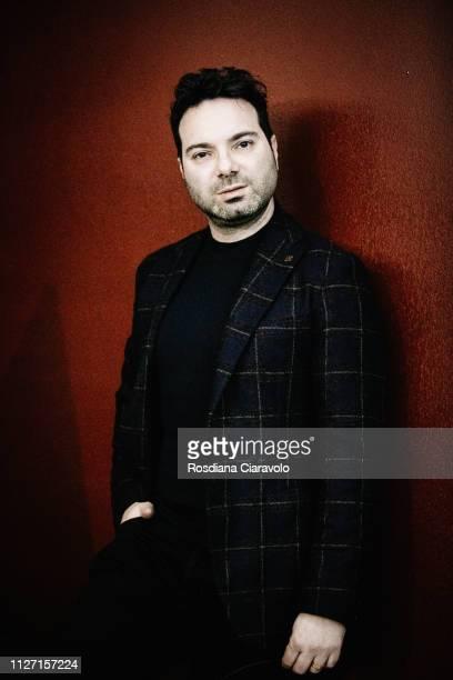 Italian writer Marcello Simoni poses during the NebbiaGialla Noir Festival on February 02, 2019 in Suzzara, Italy.