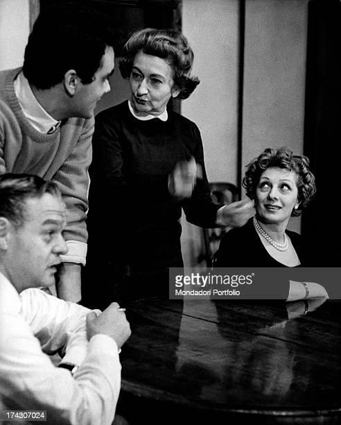Italian writer poet and partisan Alba De Cèspedes smoking a cigarette 1963