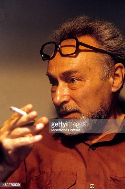 Italian writer Primo Levi smoking Turin 1981