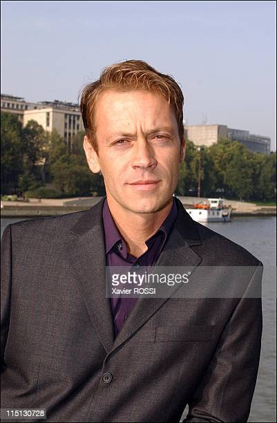 Italian Xrated movie living legend Rocco Siffredi launches new men's clothing line 'Olly Gan' in Paris France on October 12 2001