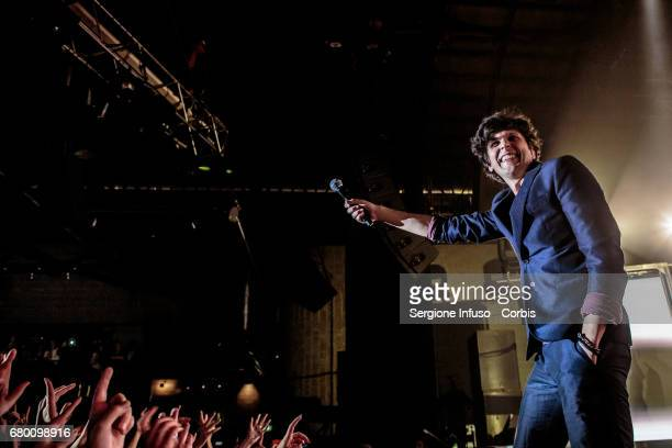 ItalianAlbanian singersongwriter Ermal Meta performs on stage at Alcatraz on May 7 2017 in Milan Italy