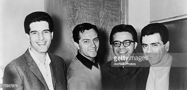 Italian-American vocal group The Four Seasons, circa 1964. Left to right: Bob Gaudio, Tommy DeVito, Charlie Calello and Frankie Valli.