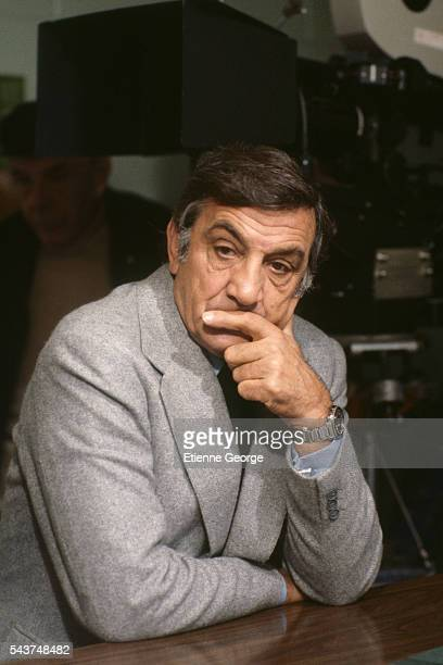 Italianborn actor Lino Ventura on the set of the film L' Homme en colere directed by French director Claude Pinoteau