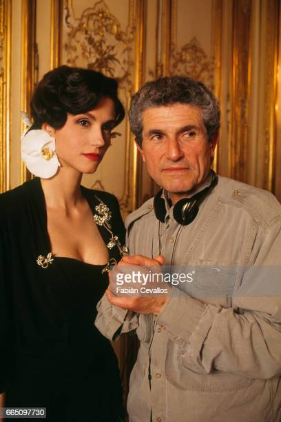 Italianborn actress Alessandra Martines on the set of the film Les Miserables with husband and director Claude Lelouch The film based on Victor...