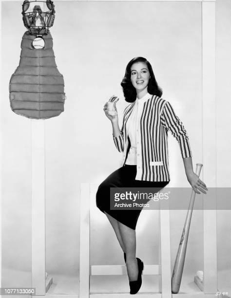 Italianborn actress Pier Angeli dresses for a baseball game circa 1956
