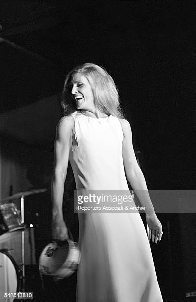 Italianborn French actress and singer Dalida singing during a concert in the Oasi in Fregene Fregene 28th August 1968